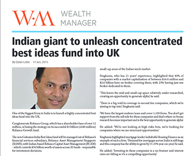 Indian giant to unleash concentrated best ideas fund into UK