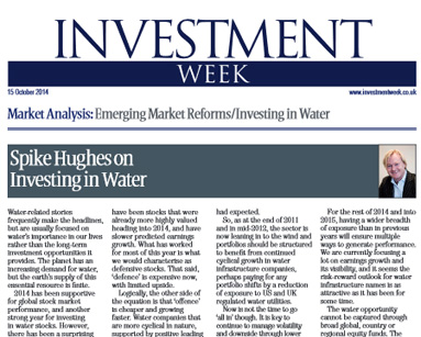 Bull / Bear: Spike Hughes on Investing in Water