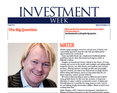 The Big Question: Spike Hughes, Water